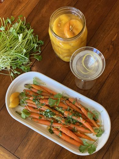 Roasted Carrots with Preserved Lemons and Cilantro