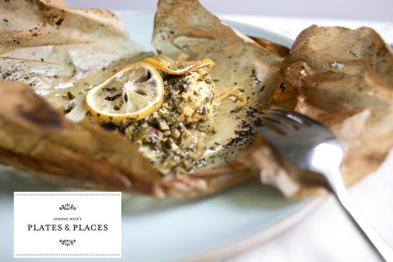Parchment Roasted Fish with Herbs Capers and Fennel
