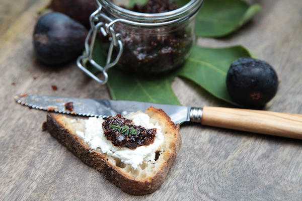 Dried Fig, Armagnac Jam and Fresh Goat Cheese Toast