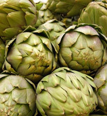 Braised Artichokes Stuffed with Sausage and Mushrooms