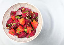 Roasted Beet and Pistachio Salad with Cumin