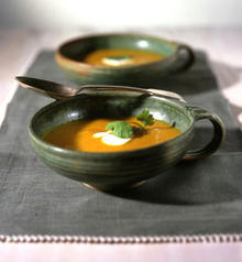 Roasted Kabocha Squash Soup with Ginger Butter