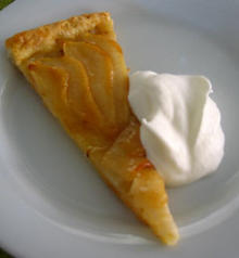 Crispy Pear Tart with Soft Cream