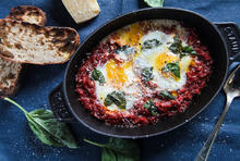 Eggs in Purgatory Amatriciana