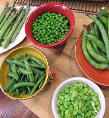 Spring Soup of Favas, Sugar Snap Peas and Asparagus