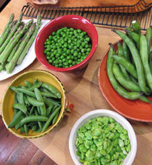 Risotto with Fava Beans, Asparagus and Peas