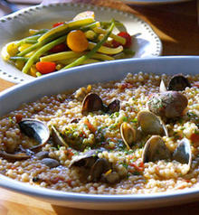 Fregola, Clams and Tomatoes