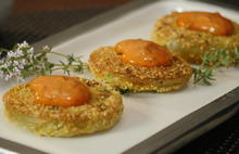 Fried Green Tomatoes with Red Tomato Mayonnaise