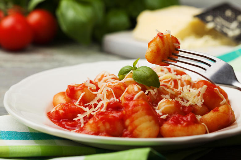 Potato Gnocchi with Tomatoes and Fresh Mozzarella