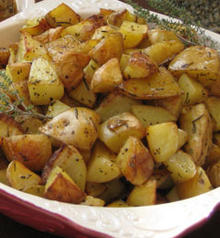 Golden Roasted Potatoes with Rosemary and Olive Oil