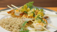 Shrimp Skewers with Citrus Salsa