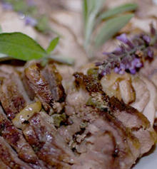 Grilled Leg of Lamb with Lavender-Rosemary Rub