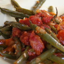 Long-cooked Green Beans with Tomatoes