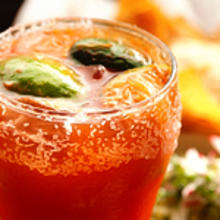 Michelada with house made sangrita