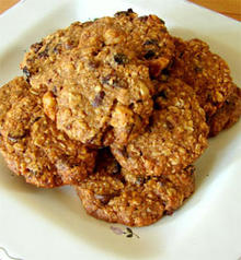 Oatmeal Cookies with Figs, Chocolate Chips and Walnuts