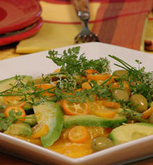 Orange, Avocado, and Green Picholine Olive Salad