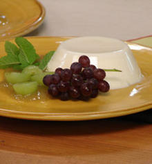 Panna Cotta with Stewed Grapes