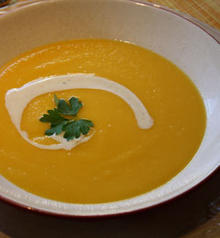 Sweet Potato Vichysoisse with Chipotle Crema