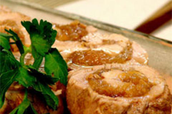 Pork Tenderloin with Onion, Orange and Dried Fig Marmalade