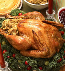Roast Turkey with Dried Apple and Corn Bread Stuffing