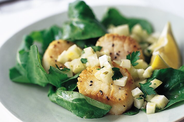 Seared Scallops with Fennel-Lemon Relish