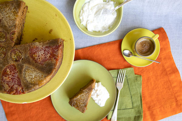 Spiced Tomato Upside-down Cake