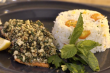 Walnut and Herb Crusted Salmon